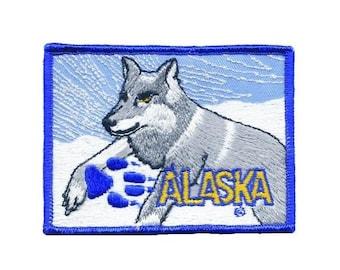 Vintage Alaska Husky Patch - LARGE!