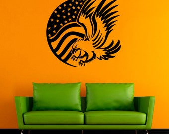 Eagle Vinyl Decal Hawk Wall Sticker Birds Decals Wall Vinyl Decor /2lpi/