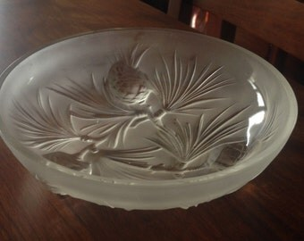 """Vintage Pinecone bowl - 6-1/4"""" x 2"""" made by Heisey"""