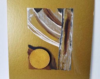 "Mixed Media Painting / Collage / Texture / Decoration / ""Directional 3"""