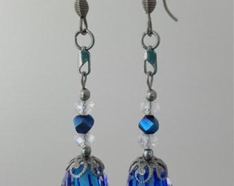 Lampwork & Crystal Earrings