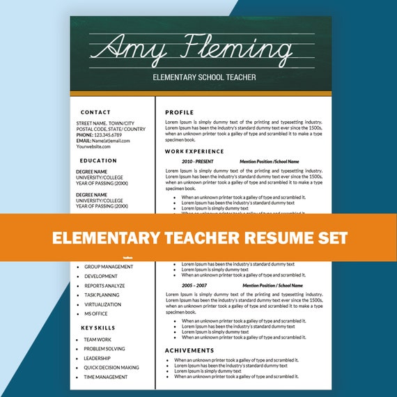 elementary resume cv templates teaching by resumesouk