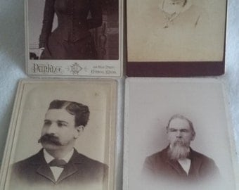 4 cabinet pictures Civil War era 2 men 2 women