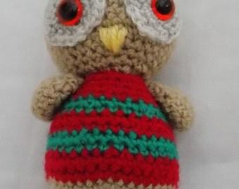 Crochet, Amigurumi Little Owl home decoration