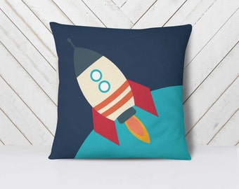 Space Bedding Pillow Set, Space Pillow, Outer Space Pillow, Space Ship Pillow, Rocket Ship Pillow Set, Stars Pillow Set, Space Pillow Cover