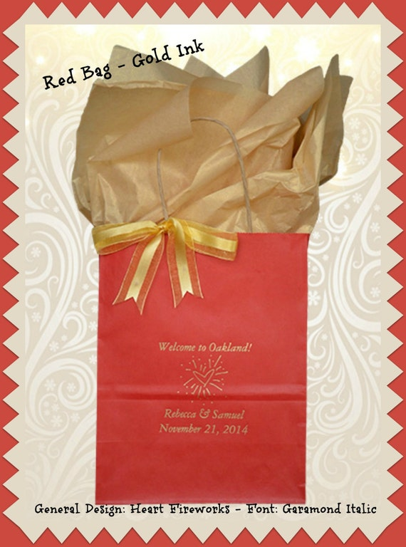 Personalized Wedding Gift Bags For Guests : Wedding Welcome Bags Personalized Wedding Guest Gift Bag Welcome Bags ...