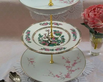 3 Tier Mismatched Cake Stand