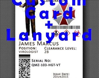 Customised Umbrella Corporation Corp ID + Umbrella Corp **Lanyard** - Resident Evil FREE SHIPPING