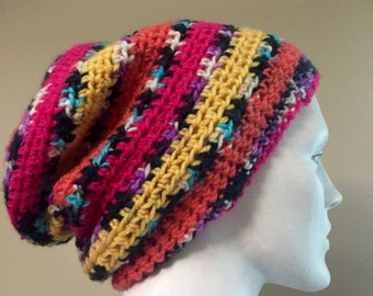 Handmade Crocheted Slouchy Hat