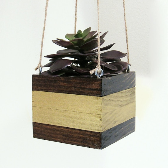 Hanging Planter Succulent Planter Wood Planter By