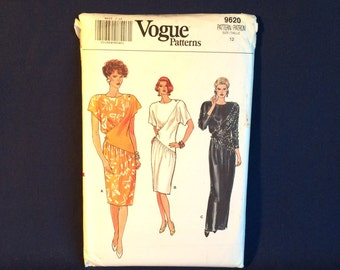 Vogue 9620 Misses Dress Sewing Pattern Size 12 Factory Folded