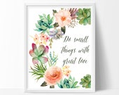 Mother Teresa quote, Do small things with great love, Nursery decor, Nursery wall art