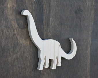 Brontosaurus Dinosaur Wood Cutout