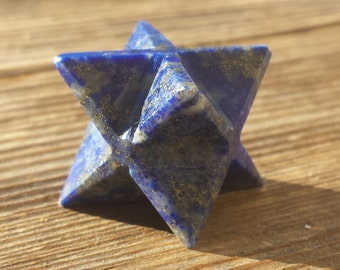 GEMSTONE MERKABA STAR Natural Lapis Lazuli (One)