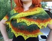 colorful  wool shawl Wool shawl Shawl for autumn winter spring Lace shawl Handmade shawl Shawl custom made Shawl wool kauni Estonian wool