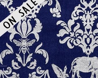 ON SALE  Metallic Animals By Echino For Kokka Fabrics Japan
