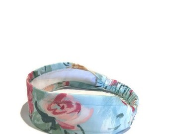 Floral Headband, Headbands for Women, Fashion Headband, Cute Headband, Mint Green Headband, Romantic Headband, Floral Head Wrap, Hair Wrap