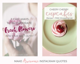 Feminine Social Media Templates, Pinterest Blog Graphics, Instagram Quote Templates, Instagram Graphics, Blog Post Templates