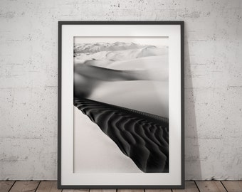 DESERT PHOTO PRINT #6 printable photography, minimalist fine art photography, monochrome wall art