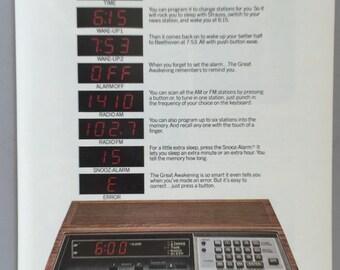 1980 General Electric Computer Radio Print Ad - GE