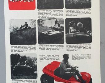 1971 Rupp Print Ad - Ruppster Sportsbuggies - ATV