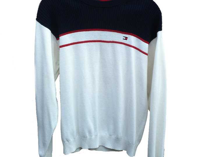 Large Tommy Hilfiger Classic Red, White, and Blue Patriot Sweater