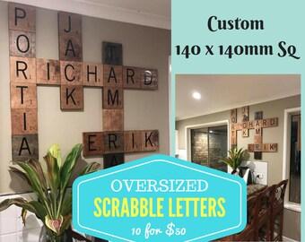 Oversized Scrabble Letter Tiles  Custom Wall Art Personalised Home Decor
