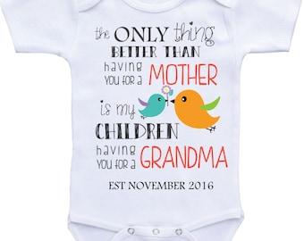 pregnancy announcement to grandparents Onesies pregnancy reveal to parents grandma/grandparents to be new grandparents grandma announcement