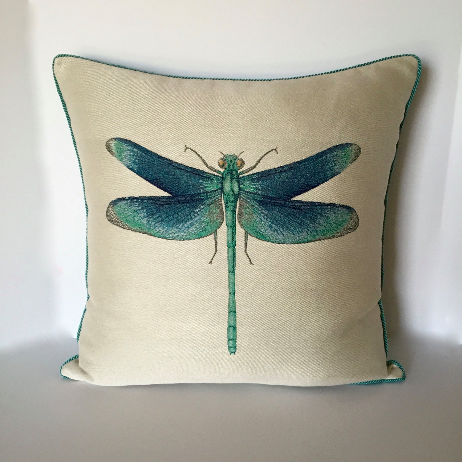 Throw Pillow With Dragonfly : Designer Pillow Dragonfly Accent Pillow Decorative Pillow