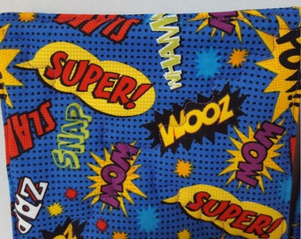 Comic word bubble potholders