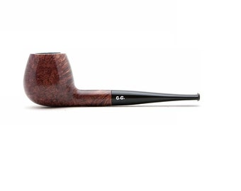 "Tobacco Smoking Pipe Briar. Metal filter 5.11"" NEW Unsmoked extra extra Briar, ebonite stem, excellent quality + GIFT"