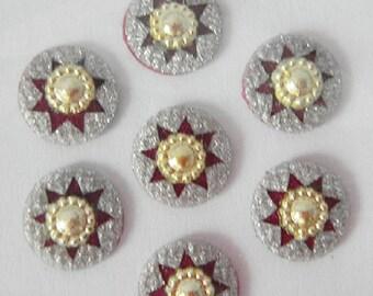 Round Bindi,Silver Glitter Bindi Stickers,golden bindi stud,Bindis,Wedding Bindi,Face jewels dots,Star Bindi,Bridal bindi,Forhead decoration