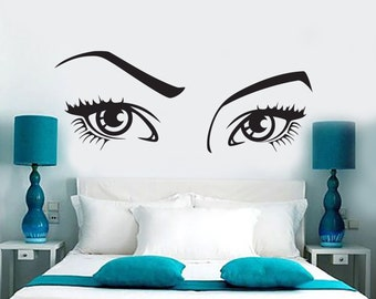 Wall Vinyl Decal Eyes Beauty Hair Salon Sexy Cool Amazing Decor Mural 1395dz