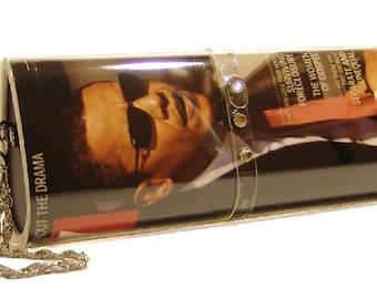 MAGAZINE CLUTCH PURSE, Barack Obama, changeable cover purse, photo purse, clutch purse, evening bag,  photo gifts, magazine purse