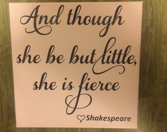 Painted Canvas and Vinyl sign, Canvas Painting, Home Decor