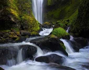 The Cathedral, waterfalls, waterfall, columbia river gorge, washington, wall art, landscape, photography, photo, nature, photo, print