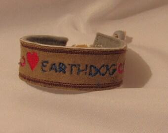 EarthDog, Bracelet, AKC, Dachshund, Westie, Schnauzer, Terrier, faux leather,