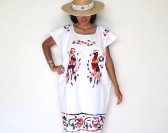 Vintage Mexican Huipil Dress