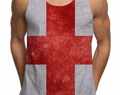 St Georges Day Mens English Flag Cross All Over Print Vest Tank Top