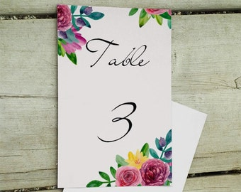 Wedding table numbers Wedding table decor Table numbers Printable table numbers Table number cards Table number download DIY wedding 1W56