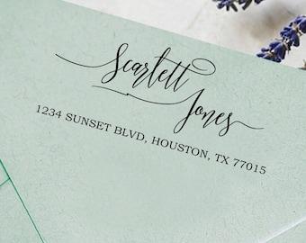 Business Address Stamp, Signature Stamp  Self Inking Address, Custom Return Address Stamp, Custom Rubber Stamp Self Ink HS154P