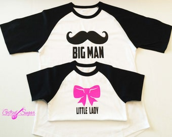 Father's Day Shirt's, Big Man Little Lady,  Father and Daughter, Daddy and Me, Father and Me,  Matching Shirts