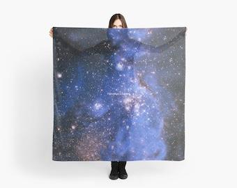 Blue Embrionic Stars Scarf, Shawl, Wrap