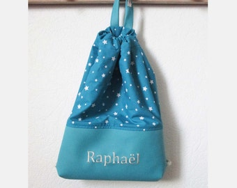 Bag child first name customizable option - snack-to Doudou-pool-Sport-toy