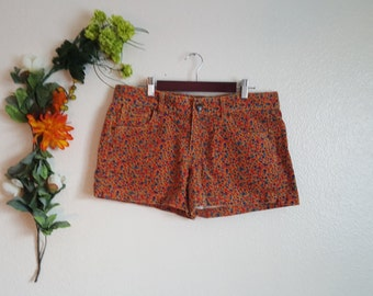 Corduroy 80's Flower Power Shorts