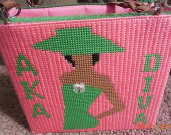 AKA Sorority Plastic Canvas Tote