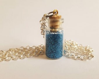 Blue Fairy Dust Necklace