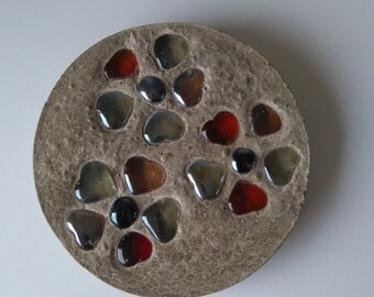 Small Concrete and glass stepping stone