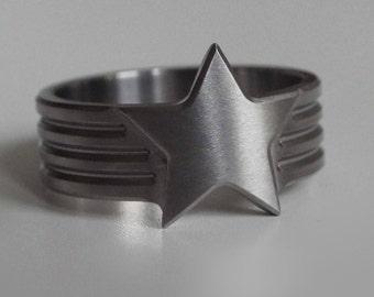 Truthseeker Wonder Woman Inspired Titanium Ring