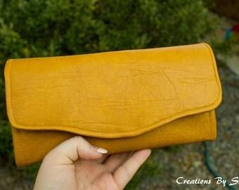 NCW Neccary Clutch Wallet Mustard Vinyl
